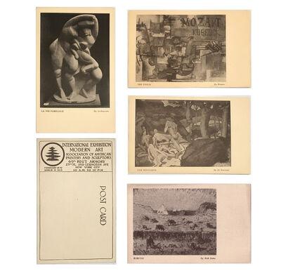 1913 Armory Show, '4-EXHIBITION CARD SET: 1913 Armory Show (International Exhibition of Modern Art), Archipenko, Braque, de Segonzac, & Walt Kuhn', 1913