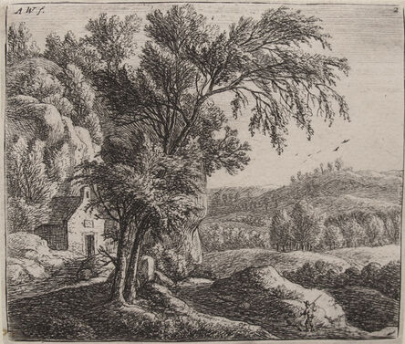 Anthonie Waterloo, 'The Hermitage (2nd of 3 States)', 1600s