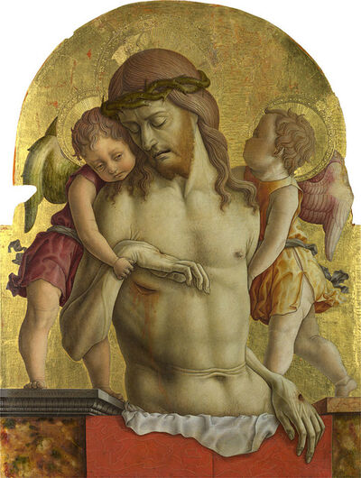 Carlo Crivelli, 'The Dead Christ supported by Two Angels ', About 1470-5