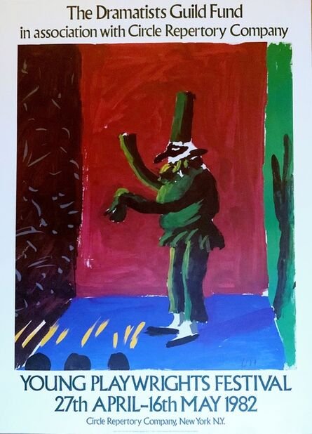 David Hockney, 'Young Playwright's Festival, from the collection of Anthony Haden-Guest (Hand signed)', 1982