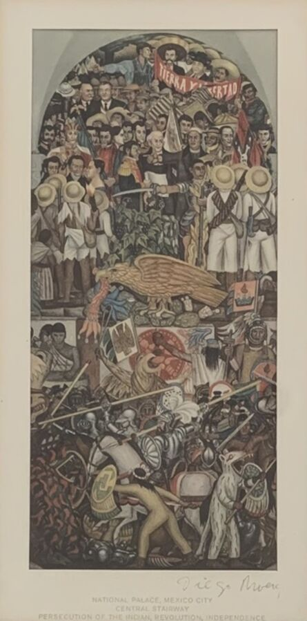Diego Rivera, 'Persecution of The Indian, Revolution, Independence', 1933