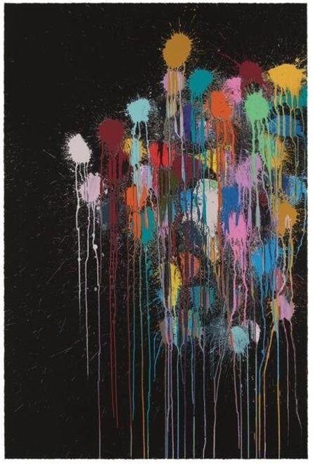 Ian Davenport, 'Colour Splat Edge (black)', 2017
