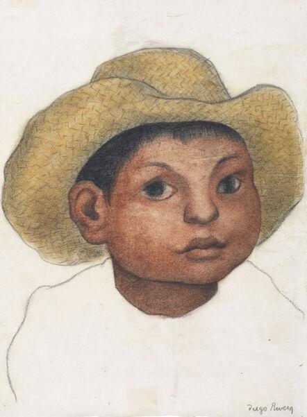 Diego Rivera, 'Boy with Hat', circa 1935