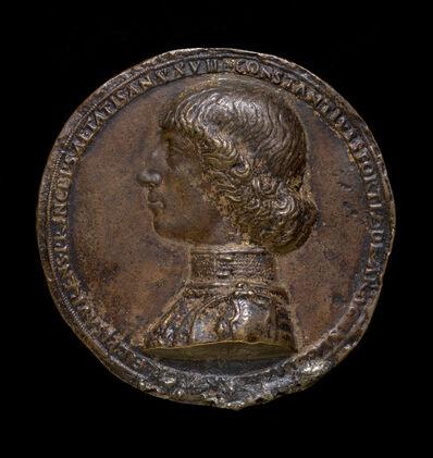 Gianfrancesco Enzola, 'Costanzo Sforza, 1447-1483, Lord of Pesaro 1473 [obverse]', 1475