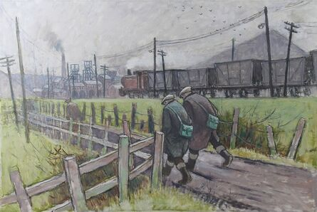 Norman Cornish, 'Walking to the pit with train'
