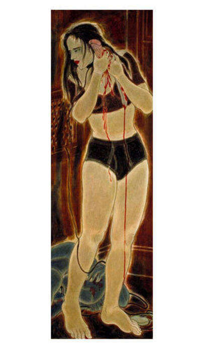 Masami Teraoka, 'Confessional Series/Woman with Haunting Mushroom', 1994
