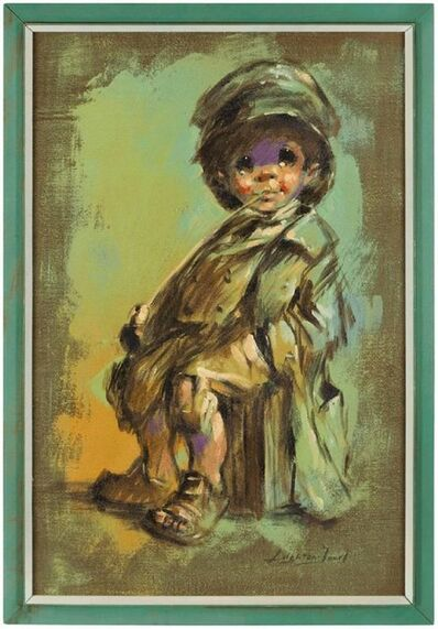 Barry Leighton-Jones, 'Runaway Child, Expressionist Oil Painting', Late 20th Century