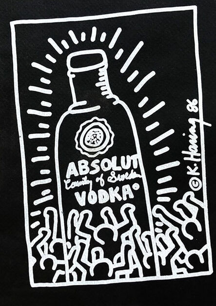 Keith Haring, 'Keith Haring Absolut Vodka 1986 (announcement) ', 1986
