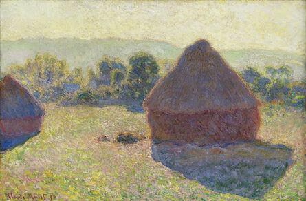 Claude Monet, 'Haystacks, Midday', 1890
