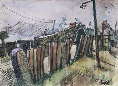 Norman Cornish, 'Bridge at Sunnybrow', ca. 1975