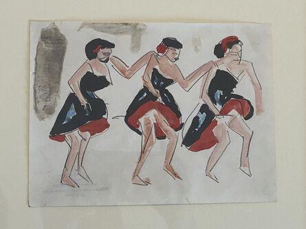 Ernst Ludwig Kirchner, 'Drei Tänzerinnen (Three Dancing Girls)', 1910