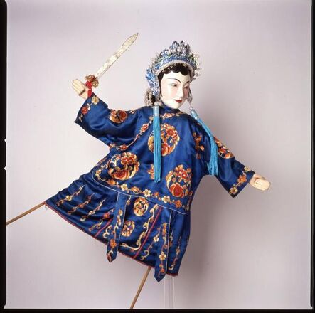 """'Character from """"The Legend of the White Snake:""""  Blue Snake  ', mid-20th century"""