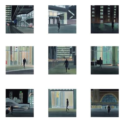 Gro Thorsen, 'City at Night, Set of 9', 2017