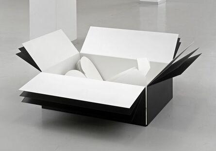 Harald Klingelhöller, 'In a landscape reacting to words, weiße Schattenversion dreifach in weißer Kartonform einfach in schwarzer Kartonform zweifach', 2013