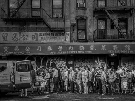 Ashley Gilbertson, 'Pandemic Food line, Alan Street, New York, August 11, 2020', 2020
