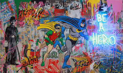 Mr. Brainwash, 'Batman & Robin (C100533)', 2018