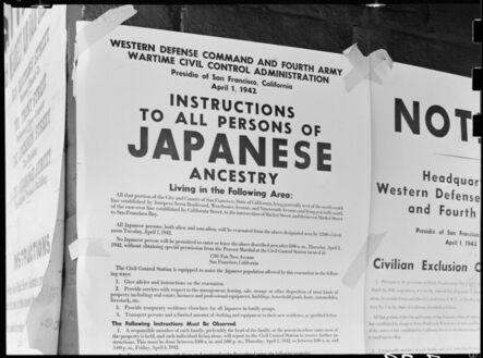 Dorothea Lange, 'Exclusion Order, San Francisco', 1942