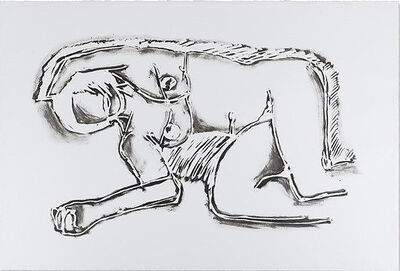 Tom Wesselmann, 'Monica Lying On Her Side With Scribbles', 1990