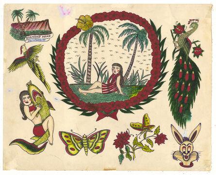 Rosie Camanga, 'Untitled (Girl Under Palm Trees)', 1950-1980