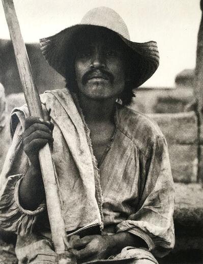 Paul Strand, 'Man with a Ho // Los Remedios', 1933