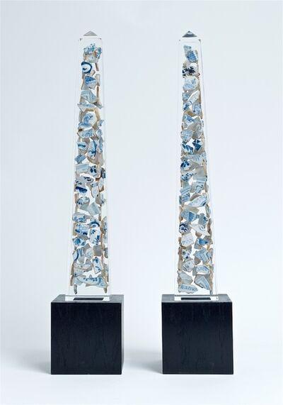 Bouke de Vries, 'Double Delft obelisks ', 2020