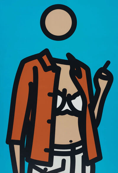 Julian Opie, 'Ruth With Cigarette. 1', 2005-2006