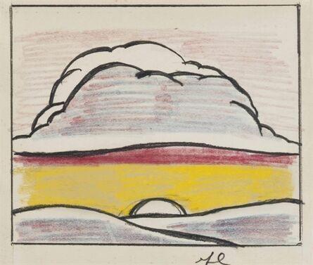 Roy Lichtenstein, 'Landscape with Setting Sun'