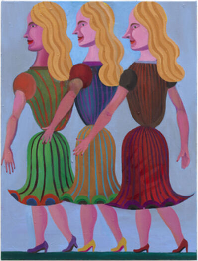 Christoph Ruckhäberle, 'Fruhling (three blond woman in profile)', 2011