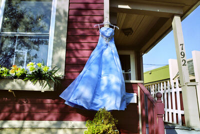 Rebecca Norris Webb, 'Blue Secondhand Prom Dress, South Wedge', 2012