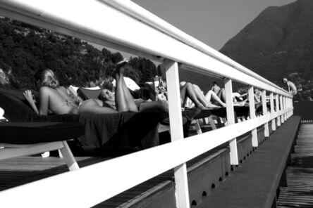 Mart Engelen, 'Holiday at the floating pool, Villa d'Este, Lake Como, Italy', 2011