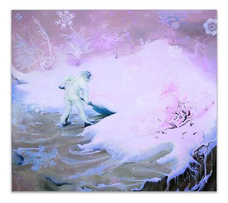 Inka Essenhigh, 'Snowflake (Pink)', 2009