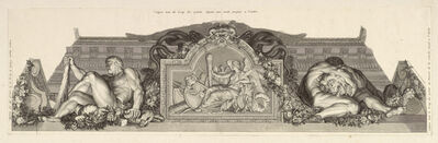 Charles Le Brun, '[Relief flanked by figures of Hercules with the Lernean Hydra and the Nemean lion]', 1713-1719