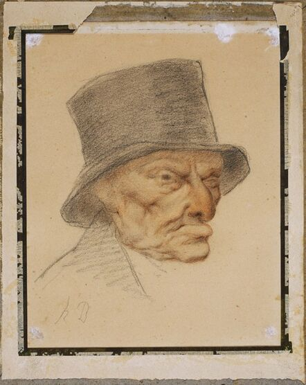 Honoré Daumier, 'Head of an Old Man'