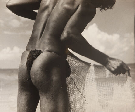 Lionel Wendt, 'Untitled (Fisherman with net)', ca. 1935