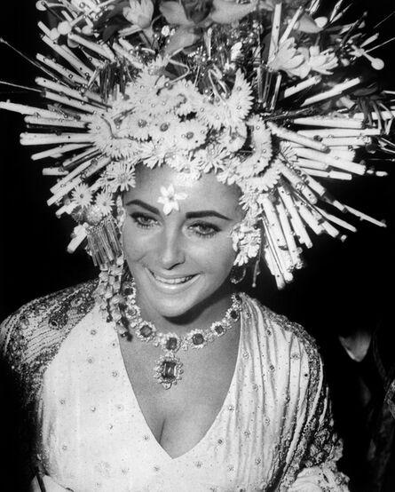 'Elizabeth Taylor wears Bulgari jewellery at the masked ball, Hotel Ca'Rezzonico, Venice ', 1967
