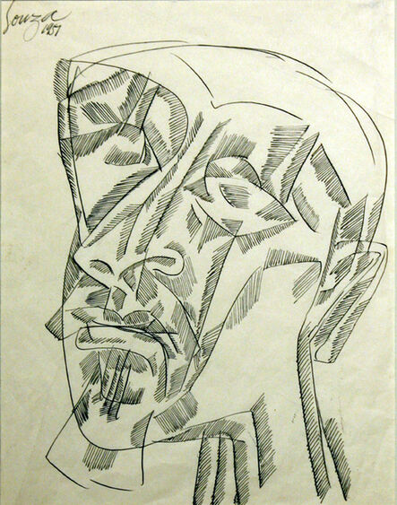 Francis Newton Souza, 'Untitled (Abstract Head)', 1957