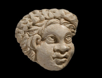 Unknown Roman, 'Ancient Roman Bone Plaque with the head of an African', 2nd-3rd Century A.D.