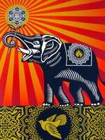 Shepard Fairey, 'Peace Elephant', 2011