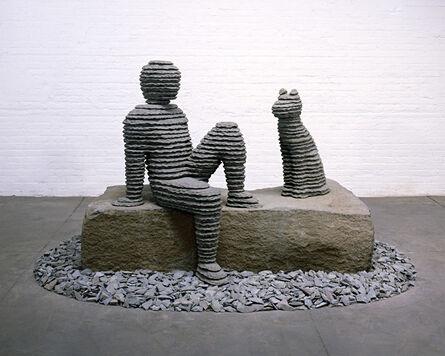 Boaz Vaadia, 'Asaf with Dog', 2010