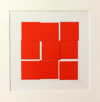 Vera Molnar, 'Cycle 9 carrés rouge ', 1991