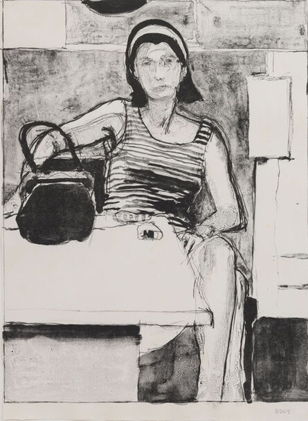 Richard Diebenkorn, 'Woman Seated at a Table', 1967
