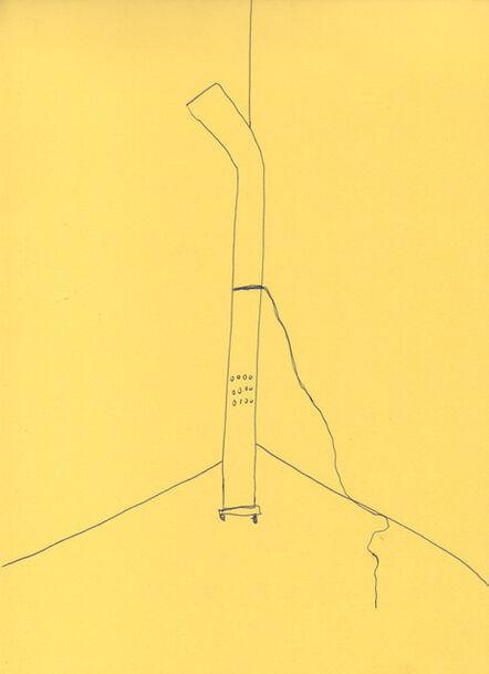 Celina Eceiza, 'Serie ¿donde esta la hora? . Dibujos de obra sonora para esculturas', 2015