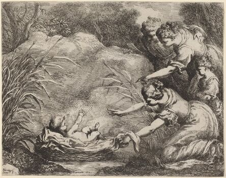 Bartolomeo Biscaino, 'The Finding of Moses'