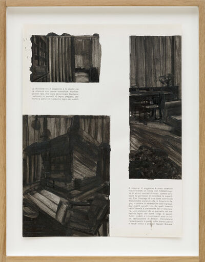 Alessandra Spranzi, 'Pagine dipinte #3, La divisione tra il soggiorno e lo studio', 2016
