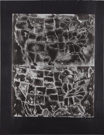 Jasper Johns, 'Two Maps II', 1966