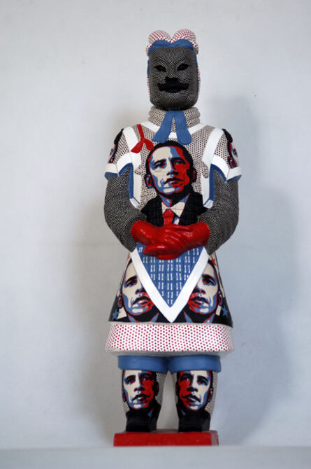 Fenghua Liu, 'Terracotta Warrior  - Obama ', 2013