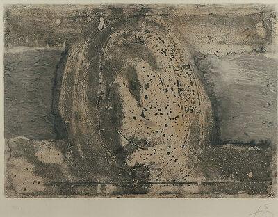 Antoni Tàpies, 'H', 1975