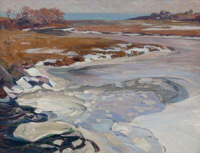 Charles Herbert Woodbury, 'Tidal River, Winter', n.d.