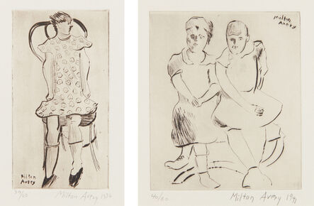 Milton Avery, 'Little Girl; and Helen and Lily', 1936-41