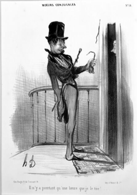 Honoré Daumier, 'I've Only Been Ringing for an Hour', 1839